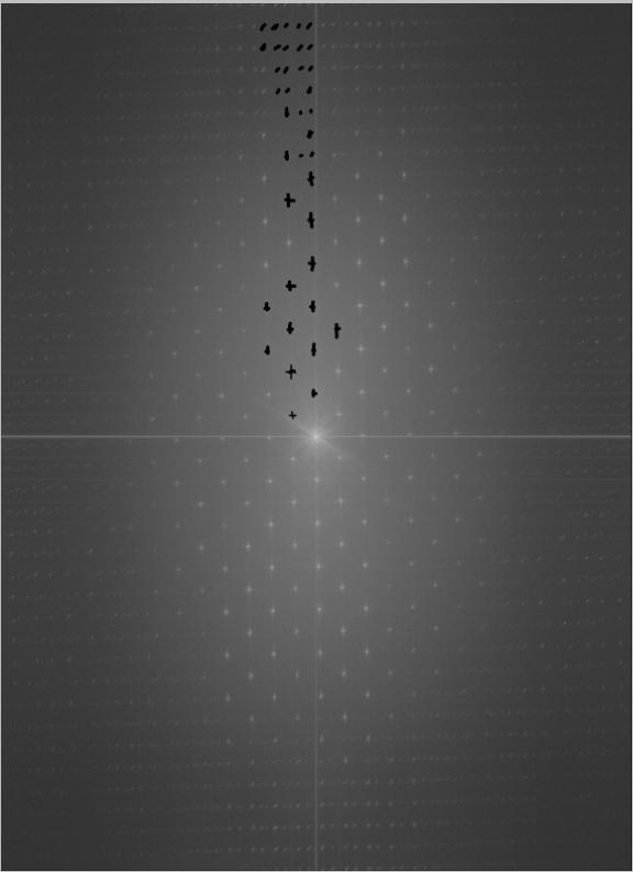 Убираем тиснение и оцветняем старую фотографию Фурье черные точки