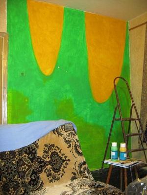 Роспись стены. Этап 5